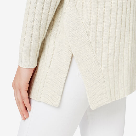 Split Hem Rib Sweater  VINTAGE CREAM  hi-res