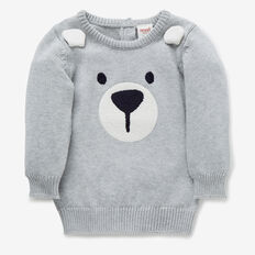 Chenille Bear Crew Knit  BIRCHMARLE  hi-res