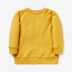 Loopy Terry Crew Sweater  DARKER MUSTARD  hi-res