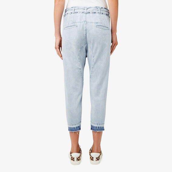 Turndown Hem Harem Pant  BLEACH BACK DENIM  hi-res