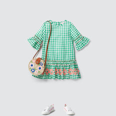 Gingham Check Dress  APPLE GREEN  hi-res