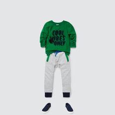 Colour Block Track Pant  CLOUDY MARLE  hi-res