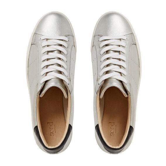 Georgina Lace Up Sneaker  SILVER  hi-res