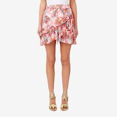 Asymmetric Frill Skirt  FLORAL  hi-res
