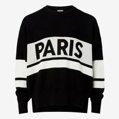 Slogan Sweater  BLACK  hi-res