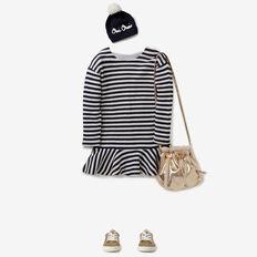 Stripe Knit Dress  NAVY/CANVAS  hi-res