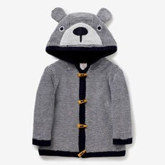 Bear Knit Toggle Hoodie  MIDNIGHT BLUE  hi-res