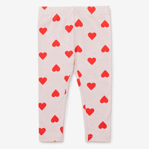 Heart Yardage Legging  ICE PINK MARLE  hi-res