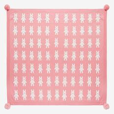 Bunny Yardage Knit Blanket  DUSTY PINK  hi-res