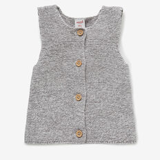 Speckle Knit Vest  CHARCOAL  hi-res