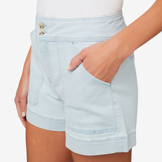 Stitch Detail Short  SKY BLUE DENIM  hi-res