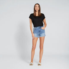 High Waist Denim Short  CLASSIC DENIM  hi-res