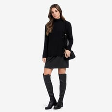 Neat Rib Sweater  BLACK  hi-res
