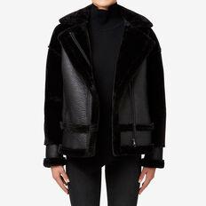 Shearling Jacket  BLACK  hi-res