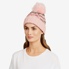 Bobble Knit Beanie  SOFT BLUSH  hi-res