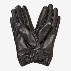 Anna Leather Gloves  BLACK  hi-res