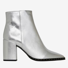 Athena Studded Heel Boot  SILVER  hi-res