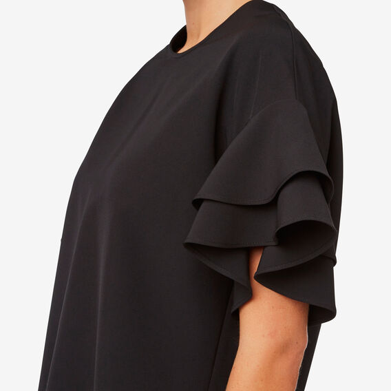 Frill Sleeve Top  BLACK  hi-res