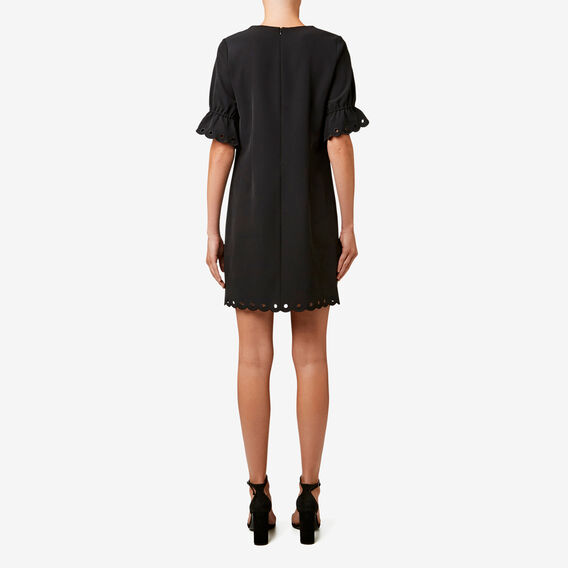 Broderie Trim Dress  BLACK  hi-res
