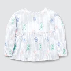 Stripe Daisy Top  MULTI  hi-res