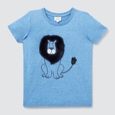Fluffy Lion Tee  BRIGHT SKY MARLE  hi-res