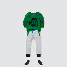 Colour Block Track Pant  CLOUDY MARLE  hi-res
