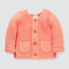 Pockets Knit Cardigan  CORAL RED  hi-res