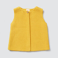 Textured Knit Vest  SAFFRON  hi-res