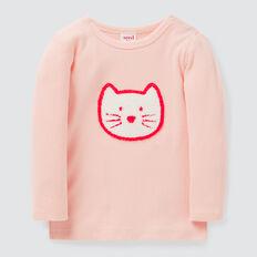 Rib Cat Tee  APRICOT  hi-res