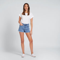Fray Hem Denim Short  CLASSIC DENIM  hi-res