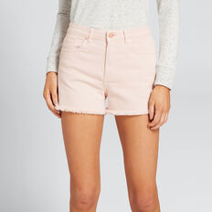 Fray Hem Denim Short  PEONY PINK  hi-res