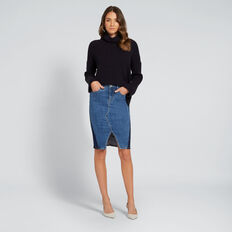 Hi-Lo Knit Top  DEEP NAVY  hi-res