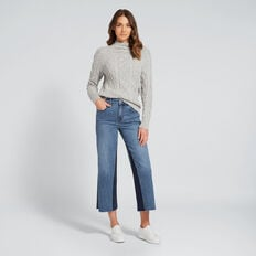 Thick Cable-Knit Top  GREY FLECK  hi-res