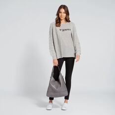 Oversized Cardigan  GREY FLECK  hi-res