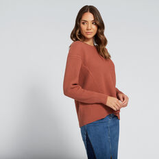 Contrast Rib Knit  DUSTY ROSE  hi-res