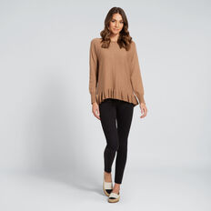 Frilly-Hem Knit  GOLDEN OAK  hi-res