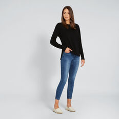 Hi-Lo Knit Top  BLACK  hi-res
