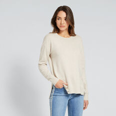 Hi-Lo Knit Top  WINTER OAK MARLE  hi-res