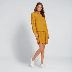 Pintuck Dress  MUSTARD GOLD  hi-res