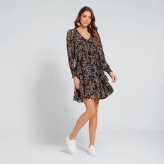 Floral V-Neck Dress  FLORAL  hi-res