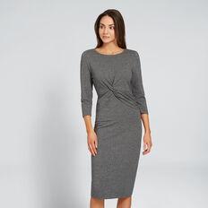 Crossover Wrap Dress  ASH FLECK  hi-res