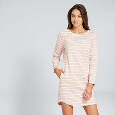 Basic Stripe Dress  PEONY PINK/CANVAS  hi-res