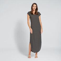 Easy Maxi Dress  BLACK/WHITE STRIPE  hi-res