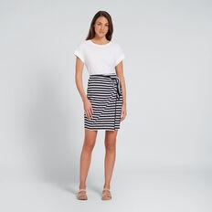 Knot Front Skirt  NAVY/WHITE STRIPE  hi-res