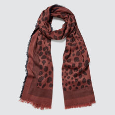 Abstract Animal Scarf  NAVY/ DUSTY ROSE  hi-res