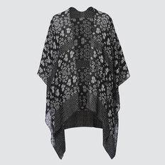 Summer Poncho  BLACK/CLOUD CREAM  hi-res