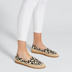 Elle Leather Flat  OCELOT  hi-res