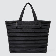 Quilted Sports Tote  BLACK  hi-res