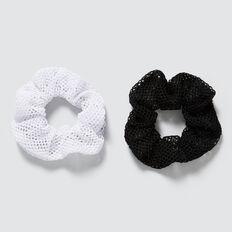 Mesh Scrunchie  BLACK/WHITE  hi-res