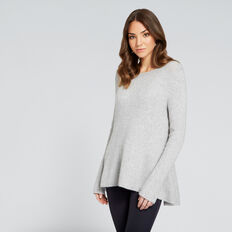 Peplum Swing Knit  SILVER DUST  hi-res